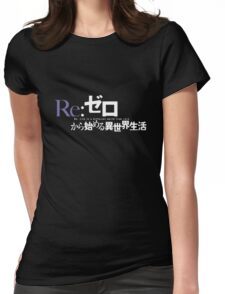 Re:Zero black logo Womens Fitted T-Shirt