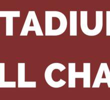 The Whole Stadium Red/Crimson Sticker