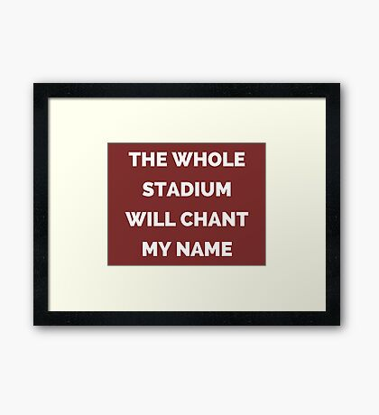 The Whole Stadium Red/Crimson Framed Print