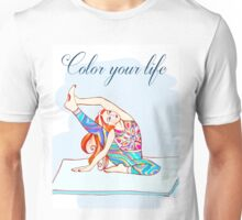 yoga girl - color your life  Unisex T-Shirt