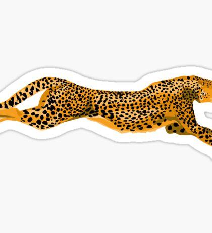 Running Leopard Cheetah Cat Sticker