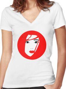 Japan / Japanese Geisha Women's Fitted V-Neck T-Shirt