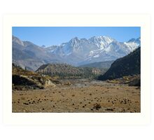 Annapurna plains Art Print