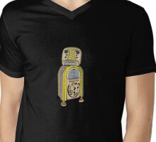 Jukebox Bot Mens V-Neck T-Shirt