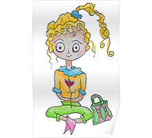 Flower Girl with a Purse Poster