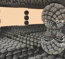 Between sphere fractal by erosione