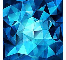 Blue polygonal design  Photographic Print