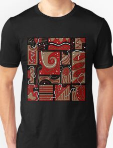 Red and brown abatraction Unisex T-Shirt