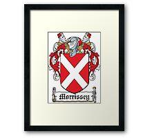 Morrissey Coat of Arms (Irish) Framed Print