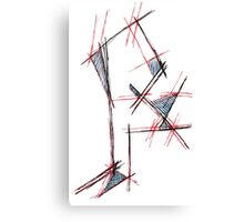 Red&blue Canvas Print