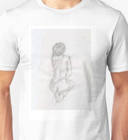 naked women line drawing Unisex T-Shirt