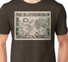 Map Nova totius terrarum orbis geographica (1635) Unisex T-Shirt