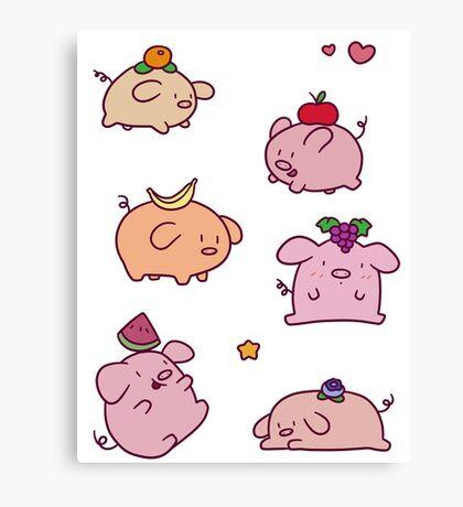 Fruit Piggies Canvas Print