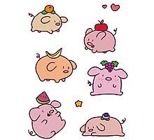 Fruit Piggies Photographic Print