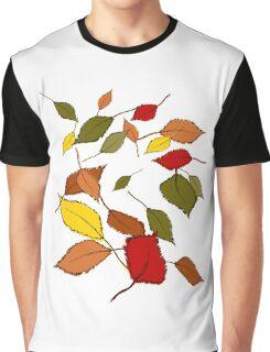 Bunte Herbstblätter im Wind Graphic T-Shirt