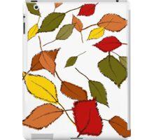 Bunte Herbstblätter im Wind iPad Case/Skin