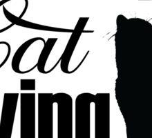 Wine Drinking Cat Loving Lesbian Funny LGBT  Sticker