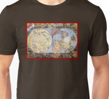 Map of the heavens and the earth (1683) Unisex T-Shirt