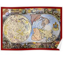 Map of the heavens and the earth (1683) Poster