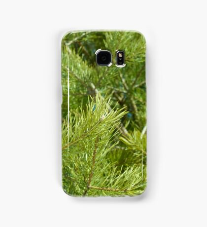bright needles on pine branches in the light of the spring sun Samsung Galaxy Case/Skin