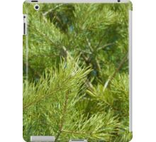 bright needles on pine branches in the light of the spring sun iPad Case/Skin
