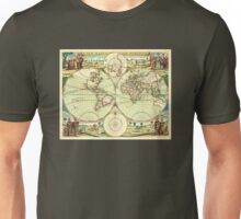 A new mapp of the world (1702) Unisex T-Shirt
