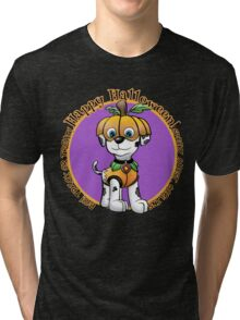 Halloween Dalmatian   Tri-blend T-Shirt