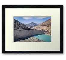 Manang glacier Framed Print