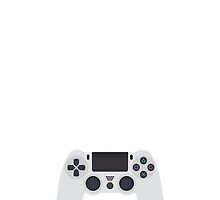 This Is For The Players - PS4 Controller White by Joren Engbers