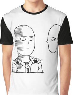 One Punch Man / OPM - Saitama Ok Face Graphic T-Shirt