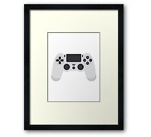This Is For The Players - PS4 Controller White Framed Print