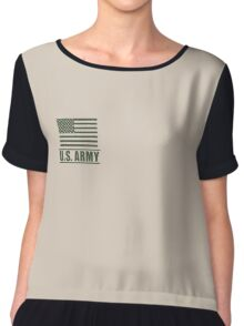 Private PV1 Infantry US Army Rank by Mision Militar ™ Chiffon Top