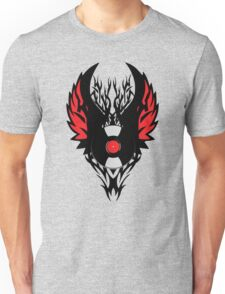 PUNK ROCK DJ Vinyl Record Art with Tribal Spikes and Wings  Unisex T-Shirt