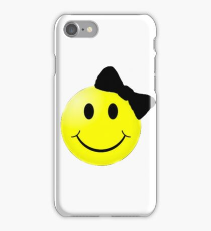 Smiley Face With Bow iPhone Case/Skin
