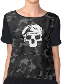 Camo Special Force Skull Chiffon Top