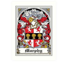 Murphy Coat of Arms (Dublin 1603) Art Print