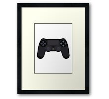 This Is For The Players - PS4 Controller Black Framed Print