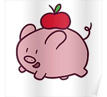 Apple Pig Poster