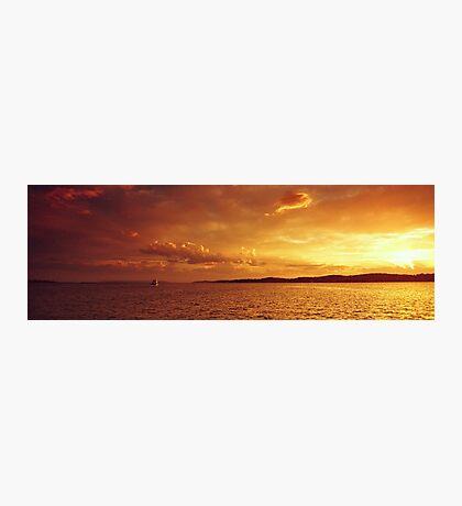 Golden Ocean Island Sunset. Photo Art, Prints, Gifts. Photographic Print