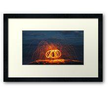 Wire Wool Fire  Framed Print