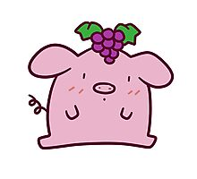 Grapes Pig Photographic Print