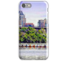Team Spirit, Teamwork, Rowing by Baltimore's Skyline, Baltimore, Md.  iPhone Case/Skin