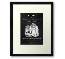 Walden - Life in the Woods Framed Print