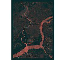 Philadelphia Map Red Photographic Print