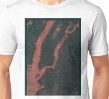 New York Map Red Unisex T-Shirt