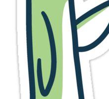 Green Lemon Bird Sticker