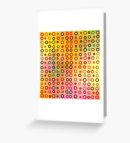 Playful circles Greeting Card