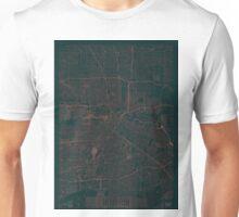 Houston Map Red Unisex T-Shirt