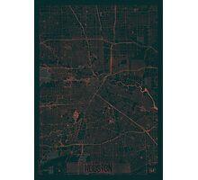 Houston Map Red Photographic Print