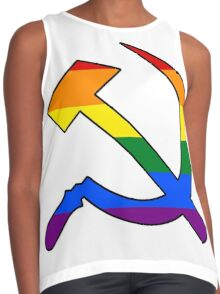 Gay Pride Rainbow Soviet Hammer And Sickle Contrast Tank